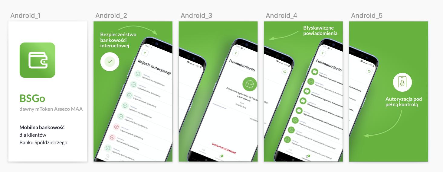 Aplikacja Bankowości mobilnej BSGo